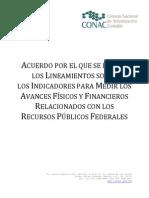 Acuerdo Lineamientos Sobre Indicadores Para Medir Avances de Rec Pub Federales