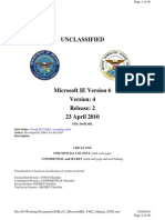 Unclassified Microsoft IE6 V4R2 STIG