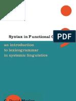Syntax in Functional Grammar