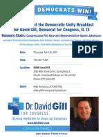 Gill Unity Breakfast Flyer