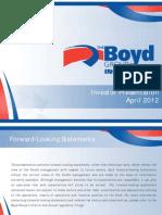 Boyd Group 2011 Q4 Presentation