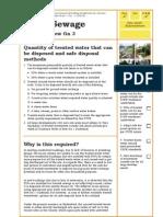 Sewage Discharge Standards