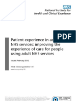 NICE - Improving Patient Experience (Short Guideline)