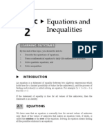 Topic 2 Equations and Inequalities