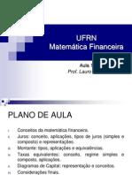 Aula 1 - Matemática Financeira