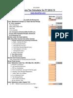 Tax Calculator 2012-13