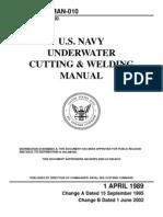 2002. U.S. Navy Underwater Cutting and Welding Manual