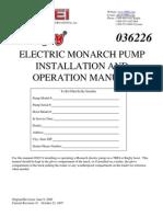 Pump - Electric Manual
