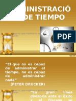 ADMINISTRACIÓN DE TIEMPO CORREGIDO