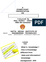Knowlege Managment Ppt