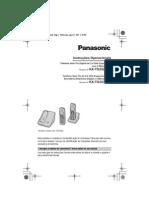 Telefone Sem Fio Digital de 2,4 GHz Expansivel Panasonic KX-TG3526LB