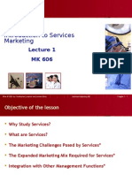 Lecture 1 Introduction of Services Marketing