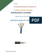 Creacion de Cables Utp y Coaxial