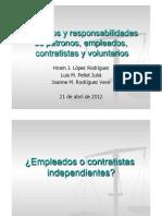 Presentación derechos empleados, contratistas y voluntarios