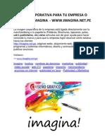 Imagen Corporativa Para Tu Empresa o Negocio - Www.imagina.net.Pe