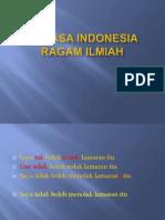 Pertemuan 2-Bahasa Indonesia Ragam Ilmiah