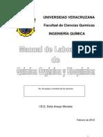 Manual química orgánica y bioquímica 2012