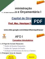 AFO I - 1.Análise de Capital de Giro.2011.2