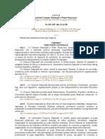 L E G E privind Comisia Naţională a Pieţei Financiare