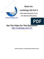 Lucidology 101 p4 5 New Sleep Commands Www Lucidology Com