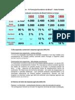 """Trechos Selecionados - """"A Formação Econômica do Brasil"""" - Celso Furtado"""