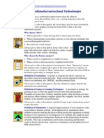 Types of Multimedia Instructional Methodologies