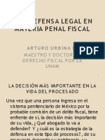 4. La Defensa Legal en Materia Penal Fiscal