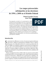 los rasgos psicosociales de la participación en las elecciones de 1994 y 2000 en el DF