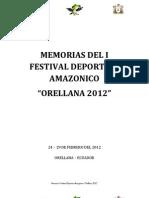 Memorias 1 Festival Amazonico Orellana 2012
