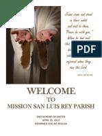 Mission San Luis Rey Parish Bulletin for April 15, 2012