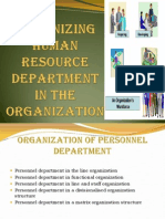 3974.Organizing Human Resource Department in the Organization (1)