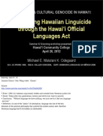 UH Hilo / HCC Hawai'i OLA Workshop
