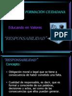 Taller de Formacion Ciudadana Responsabilidad