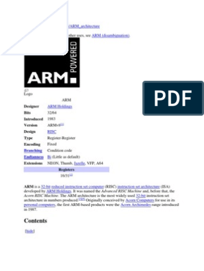 Processor | Arm Architecture | System On A Chip