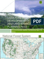 USDA Forest Service Development of the 2012 Land Management Planning Rule by Brenda Halter-Glenn