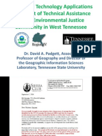 Geospatial Technology Applications in Support of Technical Assistance for an Environmental Justice Community in West Tennessee by Dr. David A. Padgett