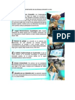 Acontecimientos Mas Import Antes en Guatemala Durante El 2011