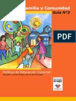 Escuela Familia y Comunidad Guia N 3 Politica de Educacion Especial