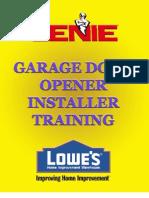 Genie Garage Door Opener Installation - Troubleshooting Guide