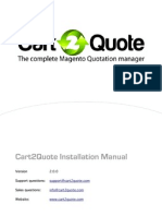 Installation Manual Cart 2 Quote v200a