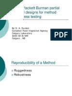 DaveDurden_Using Plackett Burman Partial Factorial Designs for Method