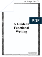 A Guide to Functional Writing