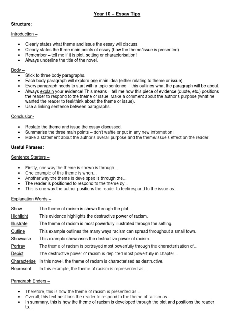 Examples Of Essays For High School  Process Essay Example Paper also How To Write A Good Essay For High School Year   Essay Tips Custom Essay Papers