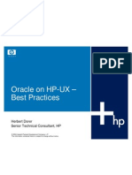 Oracle on HP-UX – Best Practices