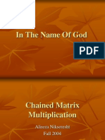 Chained Matrix Multiplication