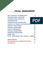 Industrial Management [HU 802] EI Organizer 2012