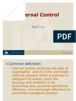 Topic 5 Internal Control