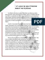 MGA Ilaw at Lakas Ng Mga Etnikong Pangkat Ng Pilipinas