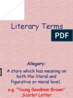 Literary Terms Power Point