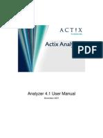 Actix Analyzer v4.1 User Manual 1.0
